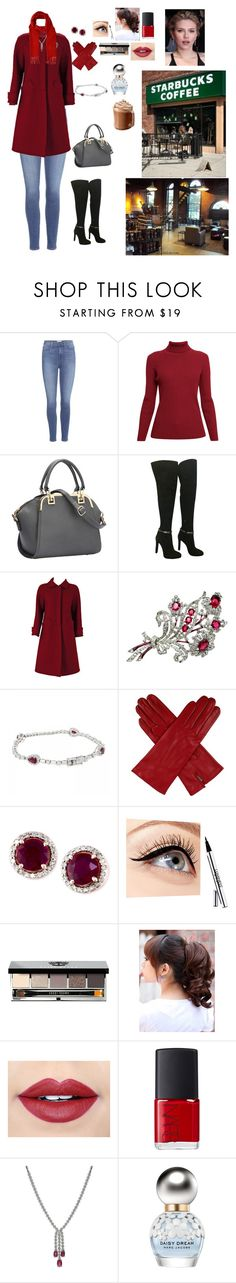 """""""Having Coffee with a Friend"""" by shadow2014 ❤ liked on Polyvore featuring Paige Denim, Rumour London, Fendi, Courrèges, Dents, Effy Jewelry, Luminess Air, Bobbi Brown Cosmetics, Fiebiger and NARS Cosmetics"""