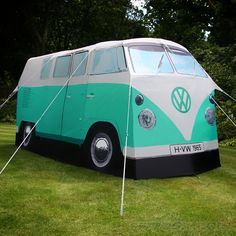 Go camping in a VW Camper Van tent.bwhat? I need one for camping on the beach!