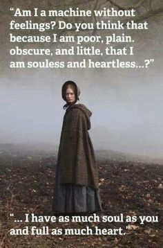 Mia Wasikowska (Jane Eyre) - Jane Eyre directed by Cary Fukunaga Mia Wasikowska, Charlotte Bronte, Now Quotes, Movie Quotes, Michael Fassbender, Tracy Chevalier, Jane Eyre 2011, Little Dorrit, Citations Film