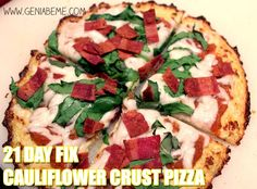 Cauliflower Pizza 21 Day Fix