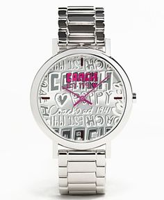 to own this coach poppy watch