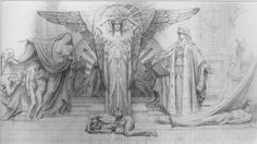 Temple Ov Arts | Jean Delville (1867-1853) Figure Drawing, Painting & Drawing, Jean Delville, Occult Art, Surrealism Painting, Fantasy Images, Pre Raphaelite, Black And White Illustration, Visionary Art
