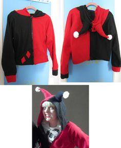 Harley Quinn costume hoodie DC Comics Batman DIY omg I need this!!!!