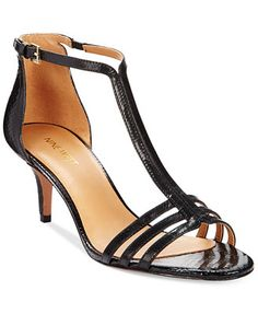 e75a58f47a2fb8 Nine West Gohome T-Strap Dress Sandals Sandals Online