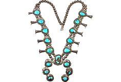 $1395.00  Squash Blossom Necklace on OneKingsLane.com