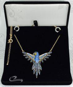 Joias Carmine - Coleção Aves preciosas - Arara Azul