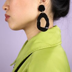 COOL MACHINE CONCEPT STORE BOUCLES D'OREILLES SHINY BLACK