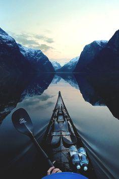 柚子と八朔 【Tumblr支社】 — visualechoess:   Late evening in Nærøyfjord - by:...