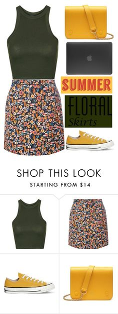 """""""Floral skirt"""" by dianakhuzatyan ❤ liked on Polyvore featuring Topshop, Dorothy Perkins, Converse, Mulberry, Incase and Floralskirts"""