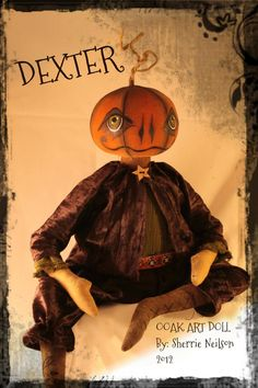 Dexter ooak art doll by Sherrie Neilson Dexter, Art Dolls, Folk Art, Primitive, Halloween, Cute, Movie Posters, Fictional Characters, Inspiration