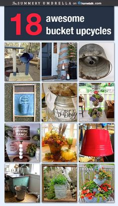 Buckets aren't just for holding water! These bucket upcycles are chic, adorable, and totally practical. Love!