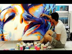 How to Paint Contemporary Acrylic Art with Russell Kereama - YouTube