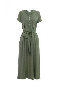 MW Anywhere Henley Dress in Olive Green – Merrick White Winter Dresses, Day Dresses, Dresses For Work, Midi Dresses, Knee Length Dresses, Short Sleeve Dresses, Dresses With Sleeves, Dress Skirt, Shirt Dress