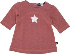Chavi - Cantaloupe - molo baby sweat dress with star print