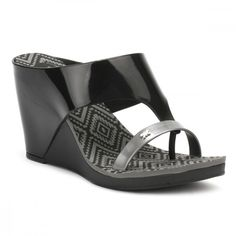 9984861b89 Womens Black Glamour 2 Wedge Sandals ( 50) ❤ liked on Polyvore featuring  shoes