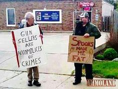 People who sell guns assist crimes? What are they when the gun SAVED lives?