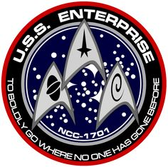 A new version of the ship's insignia for the USS Enterprise styled for the JJ Abrams re-imagined version of Star Trek New USS Enterprise Insignia Star Trek Enterprise, Uss Enterprise Ncc 1701, Star Trek Insignia, Akira, Star Trek Posters, Trek Deck, Star Trek Logo, Star Trek Images, Star Trek Series