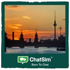 Patrick S. from Berlin. The skyline with the Berliner Fernsehturm at sunset. Shared with ChatSim App used: WeChat - Credit used: 15 (photo size 150 KB)