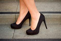 Pretty Black Pumps  - High Heels x1 - Comfortable ++++!!! - Neutral color: black ideal