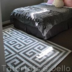 guest room greek key rug
