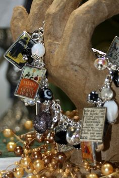 I read Banned Books Altered Art Charm Bracelet Vintage Dictionary by Shadesongs. $85.99, via Etsy.