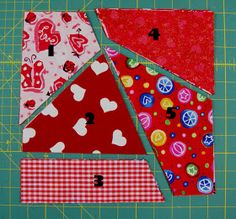 Ms. Elaineous Teaches Sewing: Crazy Quilt Block ...kinda like a stack and wack technique with a few guidelines! FUN!!!