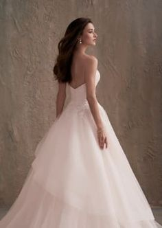 Asymmetrical Pleated Tulle Wedding Ball Gown with Lace Beading