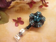 ID HOLDER  Retractable Badge Holder  Rhinestone by IdHolderPlus, $16.00