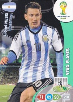 2014 World Cup Match Attax - Lionel Messi (Star Player)