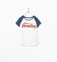 SEQUIN TEXT T-SHIRT-T-shirts-Girl-COLLECTION SS15 | ZARA United States