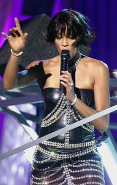Whitney Houston performs at 42nd Annual Grammy Awards in Los Angeles in 2000.