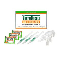 The TheraBreath Professional Strength Whitening Kit is the most effective home teeth whitening system available. The professional thermoplastic mouthguards mold to the contours of your teeth and gums, while the 21% carbamide peroxide gel delivers  fast, safe professional teeth whitening results. Have a whiter, brighter smile in as few as 5 days.