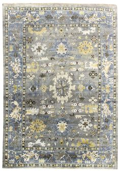 Best Value Traditional Rugs Gallery: Oushak Design Rug, Hand-knotted in India; size: 9 feet 11 inch(es) x 13 feet 9 inch(es)