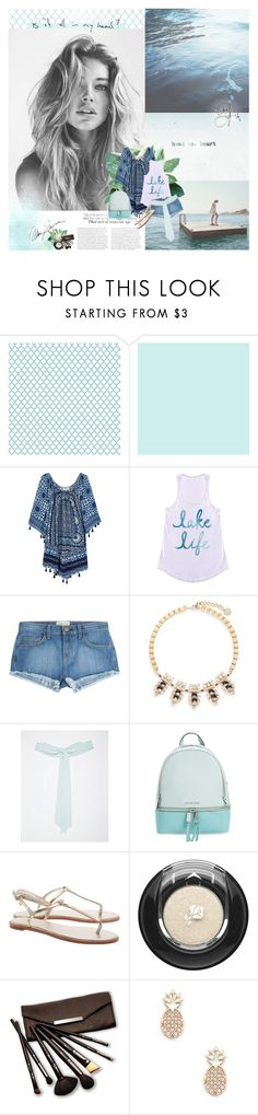 """ridin' waves x about me pt. 1"" by pandacubcake ❤ liked on Polyvore featuring Zimmermann, Rococo, Current/Elliott, Anton Heunis, TFNC, MICHAEL Michael Kors, Lancôme, Borghese and Sole Society"