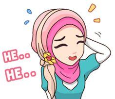 Emoji People, Anime Muslim, Hijab Cartoon, Funny Emoji, Chat App, Line Store, Line Sticker, Cartoon Art, Christian Quotes