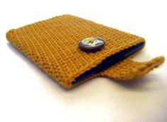 Crochet Kindle Nook EReader Sleeve Cover Gold by EpicHandmades