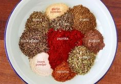 Homemade chili seasoning - used with kidney beans, ground beef, and one medium onion for chili in the crock pot. Pretty good, but would use less cumin. Homemade Chili Seasoning, Homemade Spices, Homemade Seasonings, Seasoning Mixes, Easy Asian Recipes, Mexican Food Recipes, Chili Recipes, Spice Blends, Spice Mixes