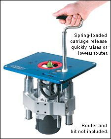U turn router lift with a 12332 x 9132 x 14 insert plate kreg router lift lee valley tools greentooth Image collections