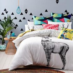 Colorful Bedrooms a bright beach apartment in australia with a touch of tropical