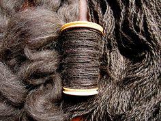 Spinning Jacob Sheep's Wool