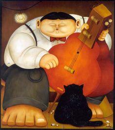 Fernando Botero, El musico - The musician - Le musicien - 1999 Diego Rivera, Frida Diego, Clemente Orozco, Foto Picture, Cuban Art, Fat Art, Mexico Art, Music Artwork, Art Moderne