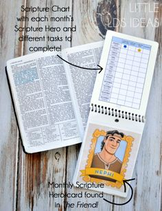 Help the Primary children gain a testimony of the scriptures with their very own scripture journal, an idea from Little LDS Ideas. Family Scripture, Scripture Reading, Scripture Study, Scripture Journal, Bible, Fhe Lessons, Primary Lessons, Primary Activities, Church Activities