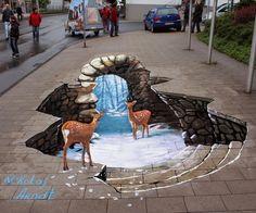Very Realistic 3D Street Art, deer.