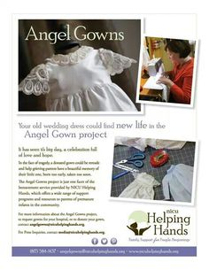 If you want to donate your old wedding dress..