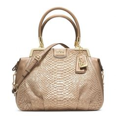 Coach Madison Pinnacle Pearl Python Lilly ($798) ❤ liked on Polyvore