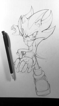Shadow the Hedgehog Hedgehog Drawing, Hedgehog Art, Shadow The Hedgehog, Anime Drawings Sketches, Cool Art Drawings, Character Art, Character Design, Graffiti Pictures, Sonic Fan Characters