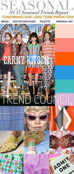 TRENDS // TREND COUNCIL - CARNY KITSOH . SS 2017 (FASHION VIGNETTE)