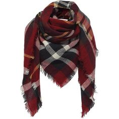 Yoins Yoins Check Wrap Scarf ($9.94) ❤ liked on Polyvore featuring accessories, scarves, bufandas, red, black, scarves & shawls, shawl scarves, black wrap shawl, black scarves and wrap scarves