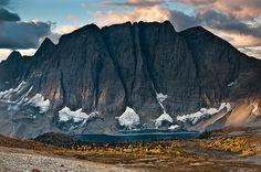 Autumn Sunrise on Floe Lake in Kootenay National Park, British Columbia, Canada