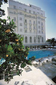 Iconic Art Deco Hotel Copacabana Palace - Rio de Janeiro - Brazil.